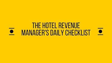 Hotel-Revenue-Manager's-Daily-Checklist